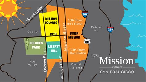 san francisco map mission district district maps bay area drop in