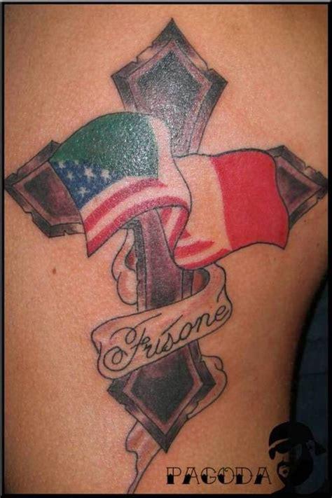 italienische flagge mit kreuz tattoo tattooimages biz