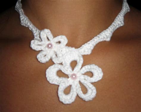 Crochet Pattern Flower Necklace | crochet flower necklace pattern my hobby is crochet
