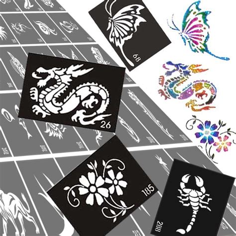 printable tattoo paper bulk online buy wholesale glitter tattoo stencil from china