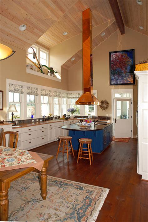 Free Standing Kitchen Islands With Seating For 4 kitchen with copper range hood