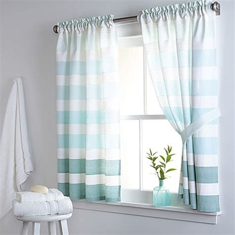 kitchen and bathroom window curtains buy dkny highline stripe 38 inch x 45 inch cotton window
