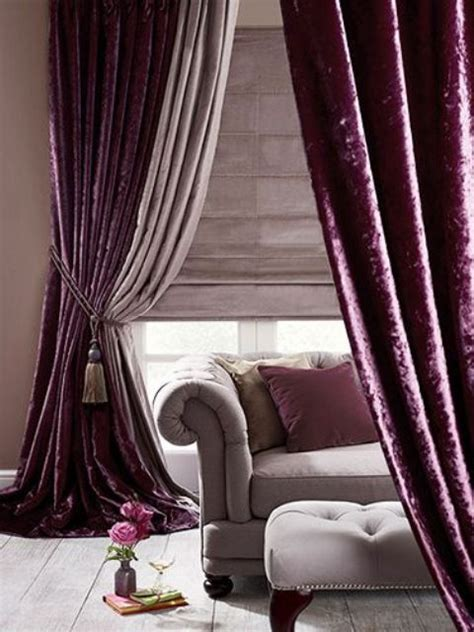 velvet purple curtains 35 ways to add texture to your home d 233 cor digsdigs
