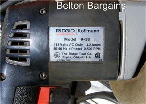 RIDGID KOLLMANN K 38 HAND HELD DRAIN CLEANER SEWER AUGER SNAKE w case   eBay