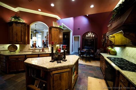 Brown Wall Kitchen by Pictures Of Kitchens Traditional Wood Golden