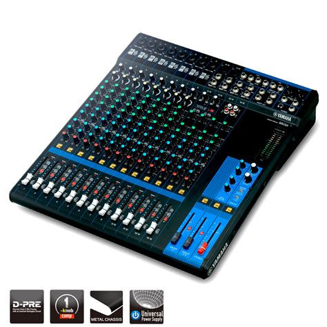 Mixer Audio 16 Ch yamaha mg16 rugged 16 channel analog mixing console pro