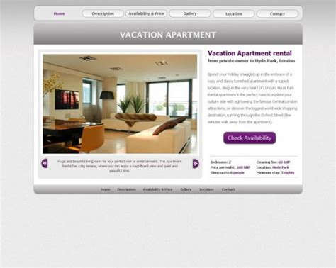 Vacation Rental Template 16 Free Holiday Home Template Phpjabbers Vacation Rental Website Template
