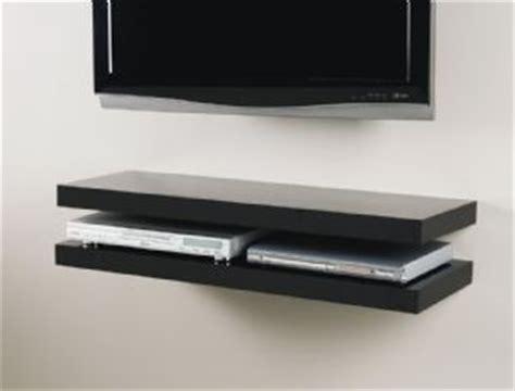 Media Shelf by Black Media Floating Shelf Kit 450x300x50mm Mastershelf