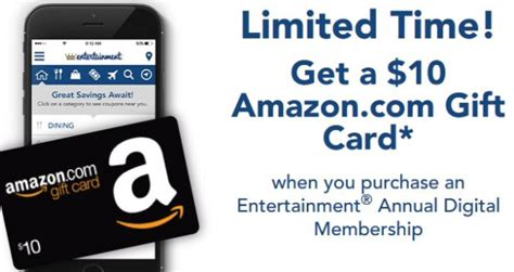 Entertainment Book Gift Cards - 2017 entertainment book digital membership just 19 99 score 10 amazon gift card