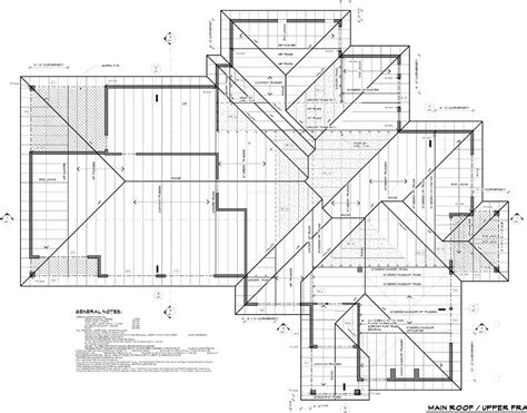 Roof Plans | roof plans roof plan 6 12 pitch and 1 8 quot scale u201c