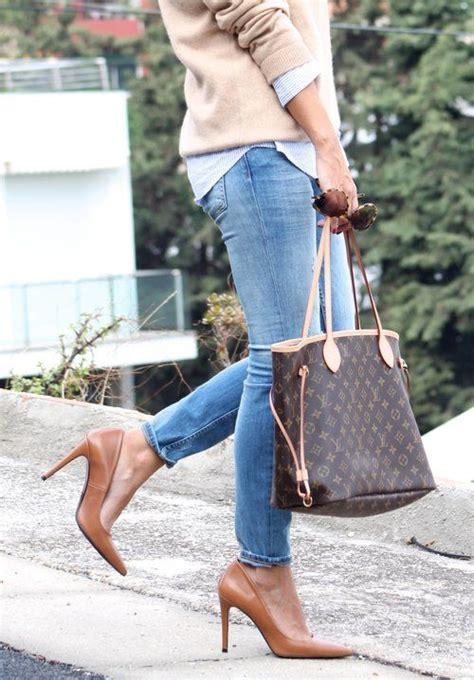 louis vuitton monogram canvas neverfull bag blue jeans
