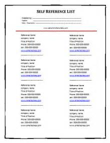 references list template free printable forms