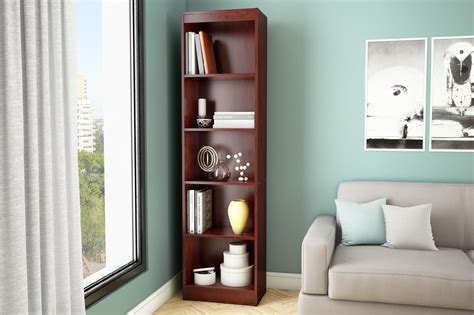 south shore axess collection 5 shelf bookcase assembly instructions axess 5 shelf narrow bookcase home furniture home