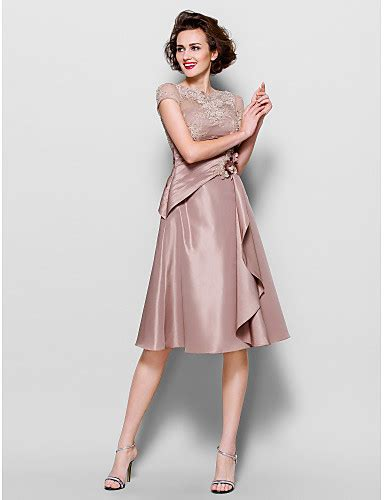 light in the box mother of the bride dresses a line scalloped knee length lace taffeta mother of the