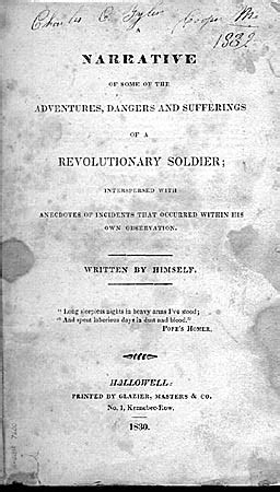 Joseph Plumb Martin Narrative Of A Revolutionary Soldier by Book By Joseph Plumb Martin