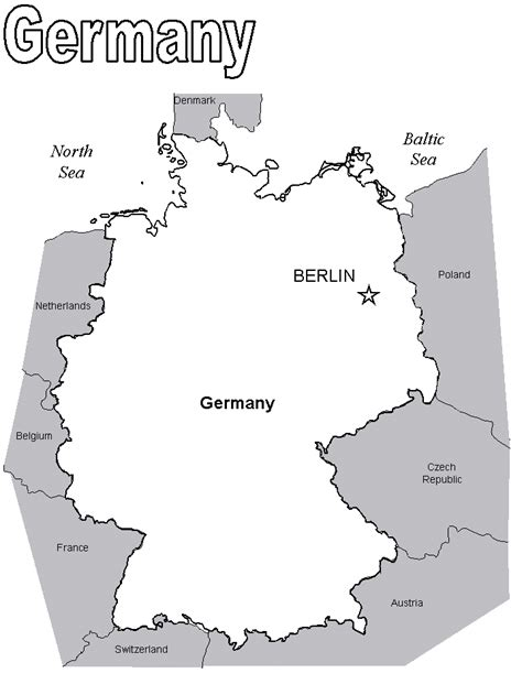 Map2 Germany Coloring Pages Coloring Book Germany Coloring Page
