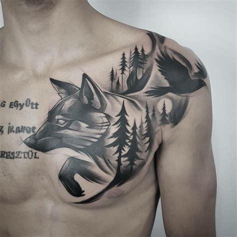 tatuajes de lobos 75 ideas y dise 241 os de los mejores