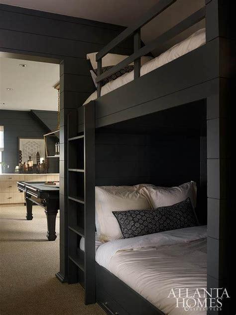 black bunk beds shiplap bedroom walls design ideas