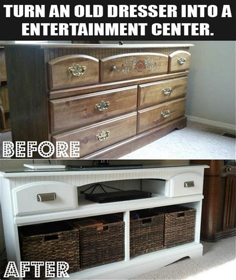 How To Turn Dresser Into Entertainment Center turn an dresser into a entertainment center