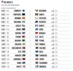 Nfl Office Football Pool Sheets Week 17