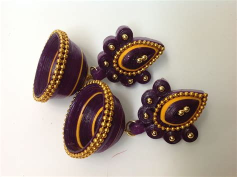 Paper Jhumkas - paper quilled jhumkas buy or do it