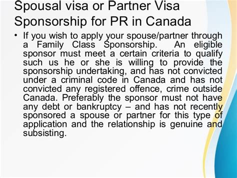 Sponsor Letter For Spouse Visa Spouse Or Partner Sponsorship In Canada