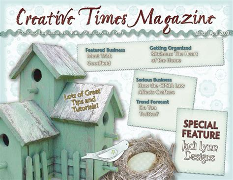 Handmade Magazines - creative times march april 2009 by kelle arvay issuu