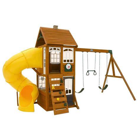 backyard imagination creston lodge wooden playset by cedar summit wooden swingsets playsets backyard