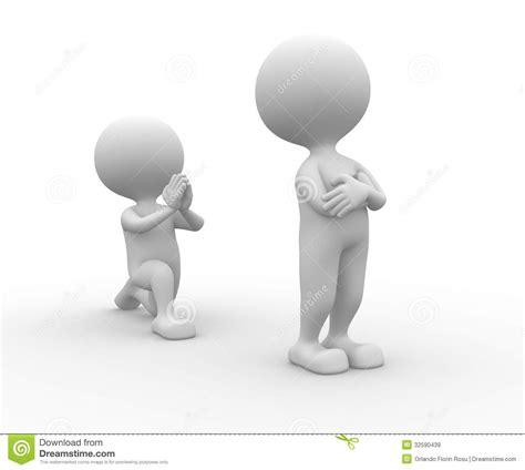 Person On by Person Auf Seinen Knien Bitten Um Verzeihen Lizenzfreie