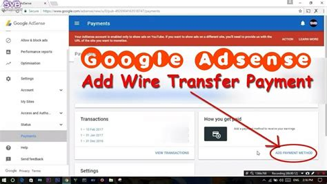 adsense wire transfer sbi how to transfer google adsense money to bank account via