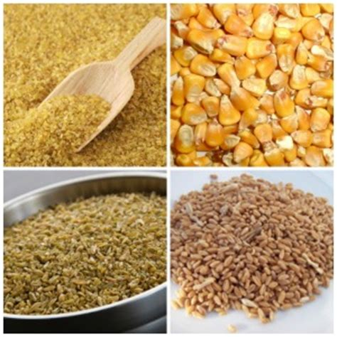 4 types of whole grains 20 types of whole grains nutrients in them and their