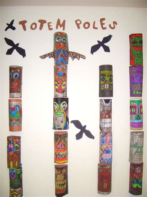 How To Make A Totem Pole Out Of Paper - draw create totem poles grades 7 8