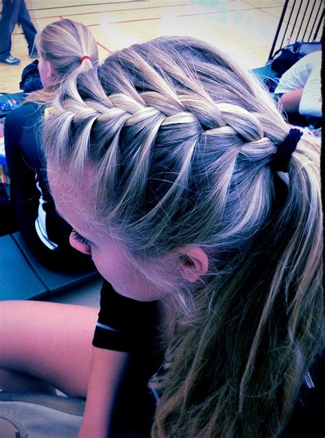 volleyball hairstyles braids french braid ponytail