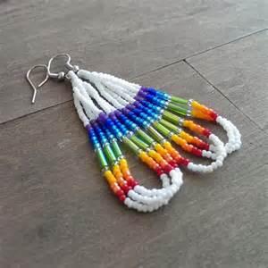 How To Make Chandelier Earrings Native American Beaded Earrings Rainbow Earrings