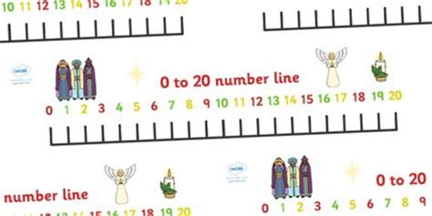 printable number line banner 5 best images of 1 20 printable number line banner