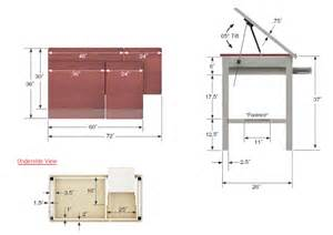 Drafting Table Size Freedom Drafting Table American Furniture Systems