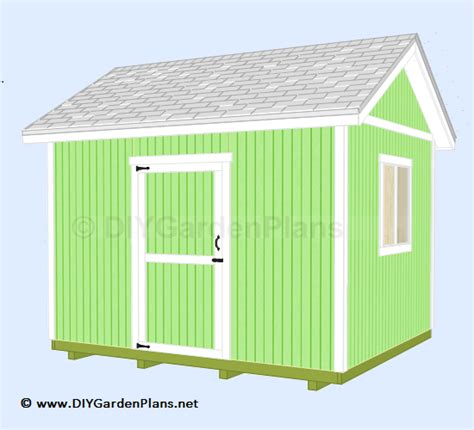 gable barn plans 12 x10 gable shed