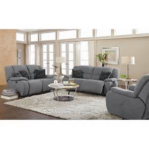 Living Room Furniture Sets Power Reclining Destin Gray Upholstery Power Reclining Loveseat Value