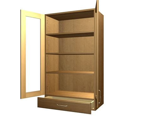 1 door wall cabinet 2 glass door and 1 drawer wall cabinet