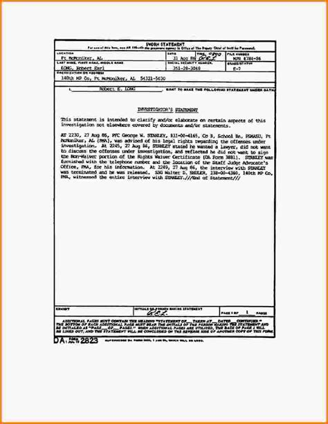 sworn statement template sworn statement exle mp1008b0022im jpg letter