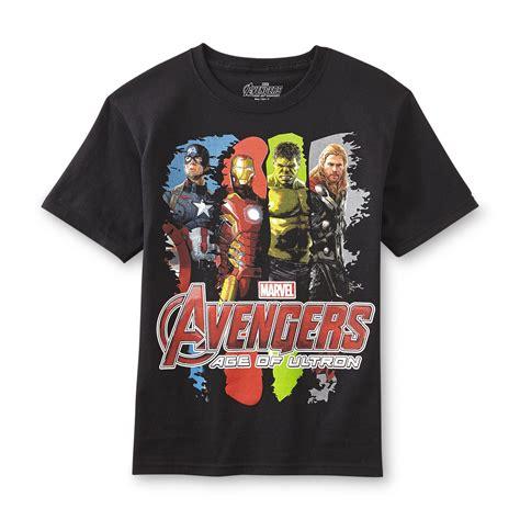 tshirt avenger hitam name marvel boy s graphic t shirt