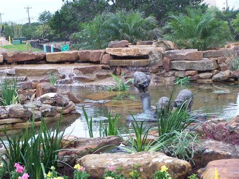 backyard pond with waterfall pond and waterfall tx photo gallery
