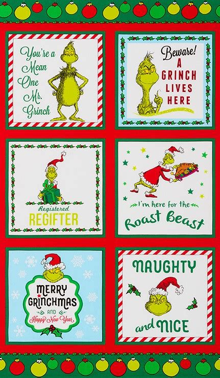 robert kaufman fabrics   grinch stole christmas  dr seuss enterprises cotton novelty