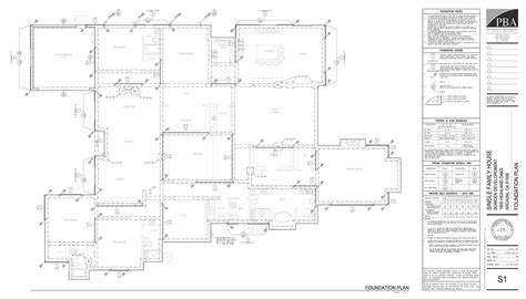 foundation layout exles construction documents