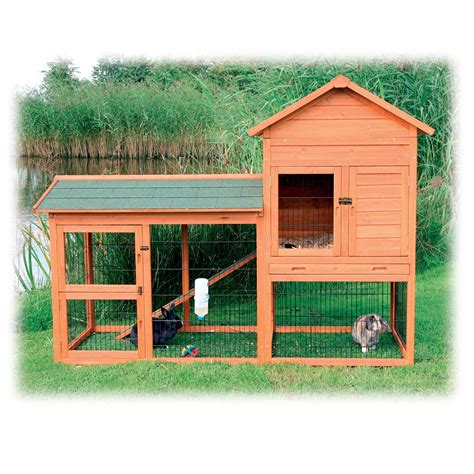 two storey rabbit hutch trixie natura two story rabbit hutch with large run 78 quot l