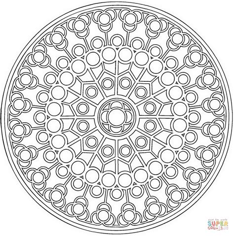 Coloriage Mandala Celtique Avec Des Cercles Coloriages Mandala Circles Coloring Pages