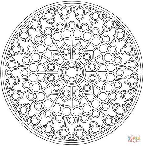 coloriage mandala celtique avec des cercles coloriages