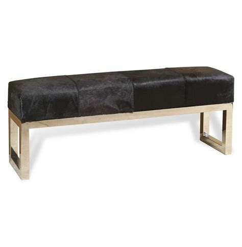hollywood regency bench moro hollywood regency black hide steel bench kathy kuo home