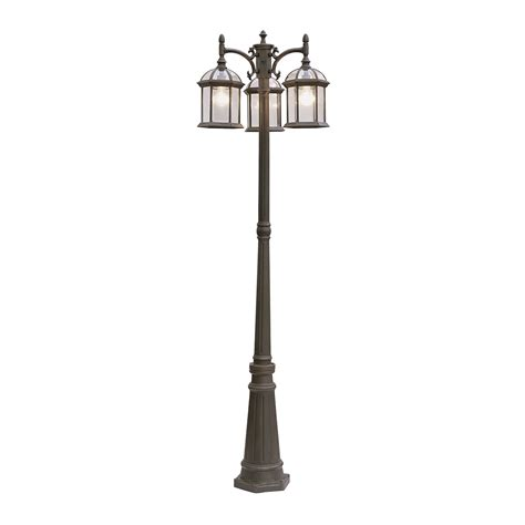 backyard light pole trans globe 4189 botanica 3 light pole post mount light