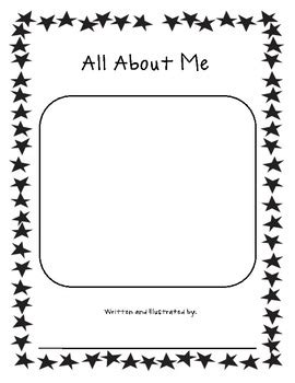 all about me book template by ms z teachers pay teachers